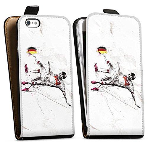 Apple iPhone X Silikon Hülle Case Schutzhülle Fußball Zeichnung sport Downflip Tasche schwarz