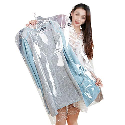 NANANA Kleidersack Lang von 10 Stück, Transparente Plastiktüte Hängen Kleidung Anzug Kleidung Deckt wasserdichte Staub Aufbewahrungstasche,60 * 100cm