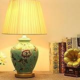 TIAMO Home Store Schlafzimmer Nachttischlampe europäischen Stil moderne Keramik Tischlampe, Hochzeit Zimmer Lampe, E27 Lampe, Beleuchtung Tischleuchte