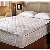 Rajasthan Crafts Water Resistant Dustproof Mattress Protector - King Size Double Bed 72 x 78 Inch, White