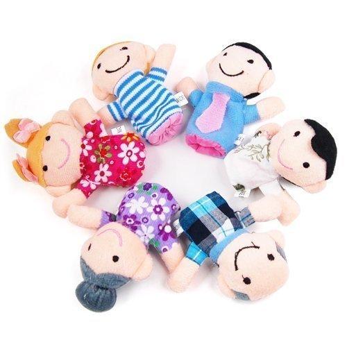 Lyanther 6 PCS glückliche Familie Mitglied Fingerpuppe Set Kinder --- ideal für die Entwicklung eines Kindes Phantasie und Kreativität
