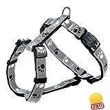 TRIXIE Safer Life Silver Reflect + BALL Gratis H-Geschirr Geschirre Hundegeschirre Hunde (S-M(40-65 cm/20 mm))
