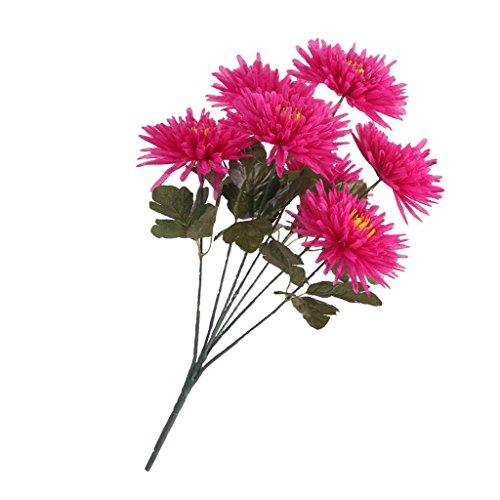 ELECTROPRIMEÃ?â??® 5xArtificial Chrysanthemums Bushes Flower Mum Bouquet Home Floral Decor 58cm