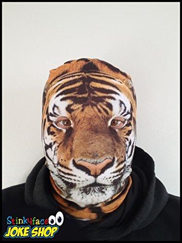 cra-Kopf, Kostüm, M, (Realistische Tiger-kostüm)