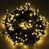 AOFENG Solar Lichterkette 22m LED WarmWeiß Solarlichterkette Wasserdicht Außenlichterkette Weihnachtsbeleuchtung für Hochzeit, Party, Garten (22m, WarmWeiß)