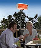 Three in One 2KW Electric Far Infrared Patio Heater Safe for Indoor or Outdoor use by Powertec