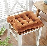 DADAO Quadratische Stuhlkissen – Rutschfeste Sitzkissen für Esszimmerstühle, 10 cm Dicke Baumwolle, Textil, X, 20 * 20in