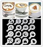 Ndier - Juego DE 16 Plantillas de café para Manualidades con diseño...