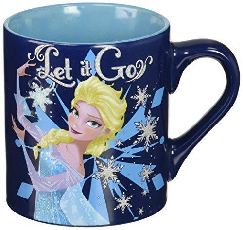 Disney DP4932G Frozen Elsa Making Let it Go Ceramic Mug Glitter, 14 oz, Multicolor by Disney (Elsa Becher 14 Oz)
