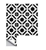 Etiqueta de azulejo 20 X 20 cm X10 unids blanco y negro marroquí dormitorio sala de estar cocina impermeable pegatinas de pared decorativos de pared