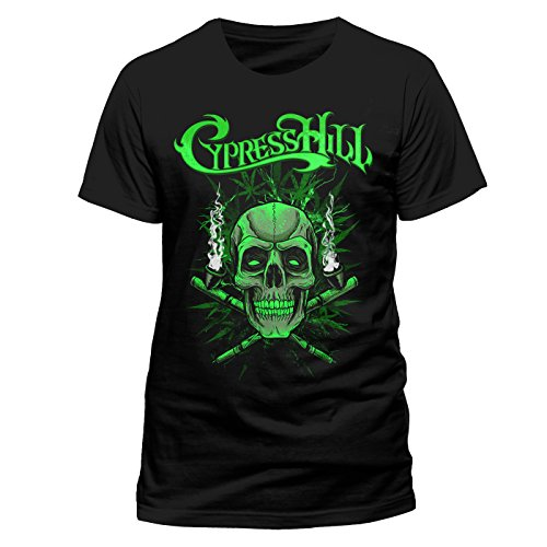 Cypress Hill - Skull n Pipes (UNISEX) (M) (Shirt Herren Cypress)