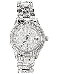 High Quality FULL ICED OUT CZ Watch - ROYAL silver
