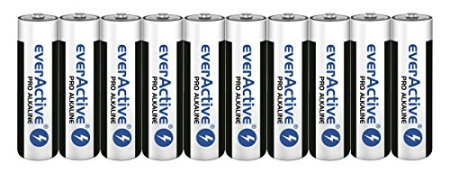 everActive AA Batterien 10er Pack, Pro Alkaline, Mignon LR6 R6 1.5V, höchster Leistung, 10 Jahre Haltbarkeit, 10 Stück Serie Aa-batterie Pack