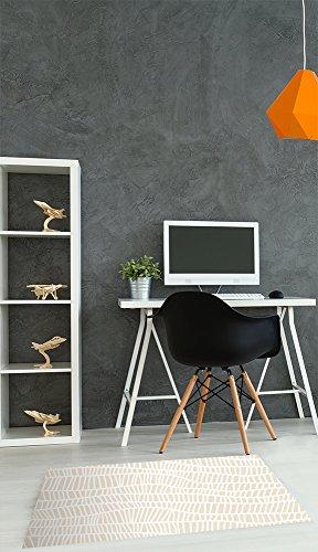 Moqueta Elegante 80 x 50 cm | Suelo ligero, económico | Alfombra flexible y sin arrugas | Fondo de rayas irregulares