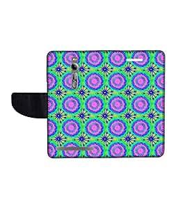 KolorEdge Printed Flip Cover For Asus Zenfone 2 Multicolor -(55KeMLogo12244Zen2)