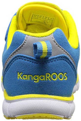 KangaROOS Nara, Multisport Indoor mixte enfant Bleu (Blue/Acid Yellow 417)