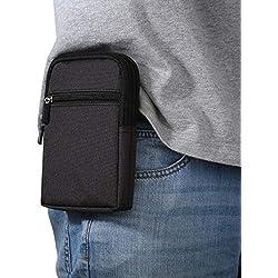 "Bolsas de Telefono con Clip de Cinturón, 6.3"" Tactical Molle EDC Bolsa Funda para Cinturón Vertical Clip Caso Bolsas de Cintura Hombre Cartera Aire Libre Viaje Multifunción Funda de Cintura Gancho"