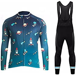 Uglyfrog #05 2017 Nuevo De Invierno Mantener caliente Manga Larga Maillot Ciclismo Hombre Bodies +Long Bib Pant with Gel Pad Winter Style