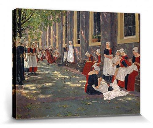 1art1 109592 Max Liebermann - Freistunde Im Amsterdamer Waisenhaus, 1881-1882 Poster Leinwandbild Auf Keilrahmen 80 x 60 cm