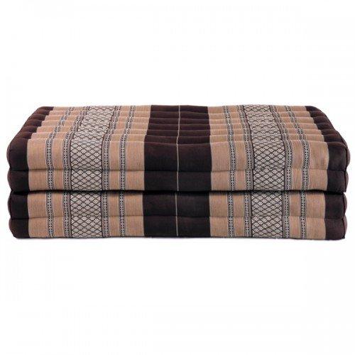 Beautissu Thai Kapok Folding Mattress Cushion - Yoga Relaxation Floor Mats from Thailand - Koh Samui - XL Size