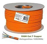 Cable de Ethernet, sin halógenos, 600MHz/100y # x200E; y # x3A9; 4pares trenzados 10Gbs Para Streaming/UHD TV/IPTV/reproductores de medios/receptores de satélite/servidores/Desktops PC/Super Fast Ethernet de red Cable con oro Pin Conectores