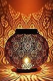 Orientalische Laterne aus Metall Bahadir Silber 22cm | orientalisches Marokkanisches Windlicht Gartenwindlicht | Marokkanische Metalllaterne für Draußen als Gartenlaterne, Oder Innen als Tischlaterne