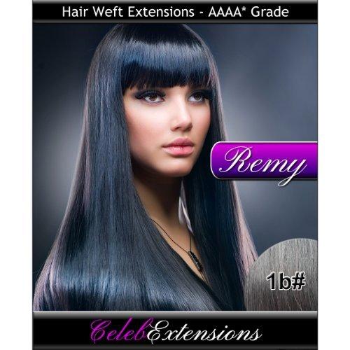 50,8 cm 1b # noir naturel Extensions capillaires Cheveux indiens Remy 100% humains tissage. Lisse et Soyeux 6 m Poids : 100 g AAAA de grande qualité. Qualité. Par celebextensions