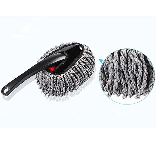 Multifonctionnel Microfibre Car cire à poussière Voiture Famille Cuisine Ordinateur Nettoyant, Doux, Fluffy, Removable, Léger et Lavable Nettoyage. (gris)
