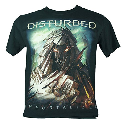 Disturbed - Maglietta da uomo nero immortalized Small Size S