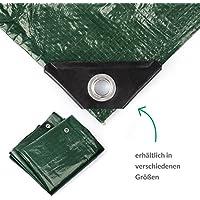 Minuma® Abdeckplane 2 x 3 m | PE120gr in grün | mit verstärkten Metallösen | reißfest, stabil, wasserfest, abwaschbar und schimmelresistent | Beschichtung beidseitig