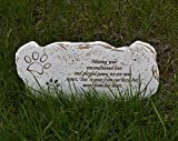 Meiyaa - Pietra commemorativa per Animali Domestici, con Poesia per la Perdita di Animali Domestici, Idea Regalo per Cani e Gatti