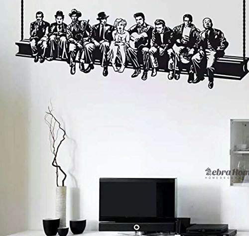 on Menschen In Hollywood Wandaufkleber Aufkleber Dekoration Wandbild Abnehmbare Tapete ()