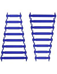 Joyshare No Tie Shoelaces für Kinder und Erwachsene Wasserdichte Silikon flache elastische Sportlauf Schnürsenkel mit Multicolor für Sneaker Stiefel Brettschuhe und Freizeitschuhe
