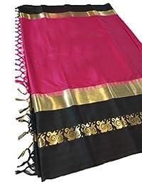 Premium Choice Latest Women Cotton Silk Saree With Blouse Piece (17 COLOR)