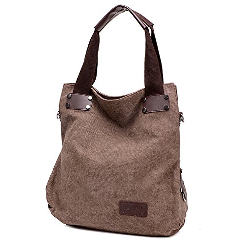Wewod, Borsa a mano donna Multicolore Multicolore 42*15*38cm, marrone (Multicolore) - ZY-837 marrone