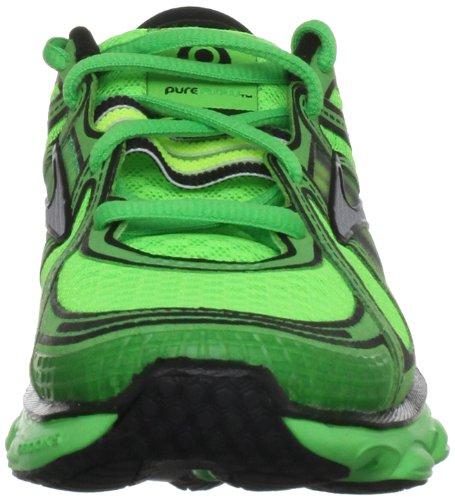 Brooks Pure Flow B, Sports / running garçon Vert - Vert/noir