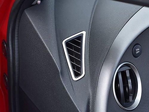 Interieur Stahlabdeckung für Civic VIII und Type R III FN2-2 Stück Belüftungsdüsen Platte Edelstahl Gebürstet Blenden Dekor Mass Angefertigt