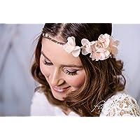 Brauthaarband Blumenkranz Blüten Diadem Braut Frisur Hochzeit Boho A16