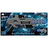 Enlarge toy image: Galactic Wars Space Gun Blaster with Flashing Lights and Sounds (One Size, Grey/Blue/Black)