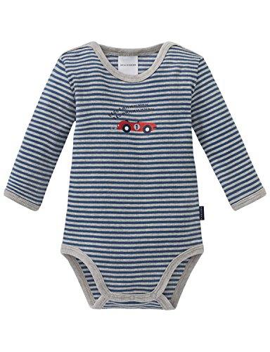 Schiesser Jungen Strampler Grand Prix Baby Body 1/1 Blau 800, 74