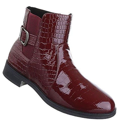 37 38 Borgonha 36 Azul Vermelho 39 Chelsea Botas Sapatos Stiefeletten 41 40 Senhoras 0w1qFH