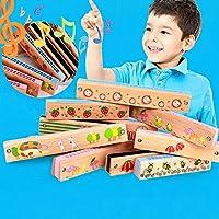 1pcs Holz Mund Harmonika Harmonica mit 16 Löcher für Baby Lernspielzeug Gift