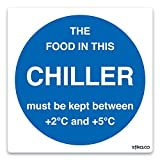 Chiller Display Temp Sign Notice (Self - Adhesive) - make everyone aware of risks and procedures