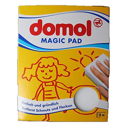 Domol - Magic Pad 2x Stück - Schmutzradierer ohne zusätzliche Reinigungsmittel - Der perfekte Reinigungsschwamm (Made in Europa) -