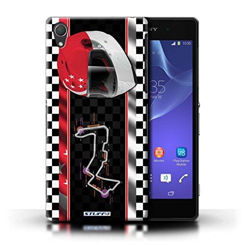 Kobalt® Imprimé Etui / Coque pour Sony Xperia Z2 / USA/Austin conception / Série F1 Piste Drapeau Singapour