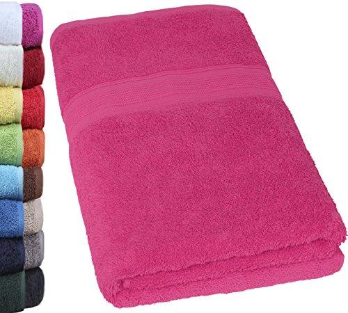 NatureMark SAUNATUCH PREMIUM Qualität 80x200cm Sauna-Handtuch 100% Baumwolle Farbe: Pink