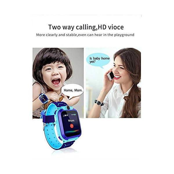 FOONEE Reloj GPS Tracker para niños, Reloj Inteligente Teléfono para niños de 3 a 12 años Niños pequeños Niños Niñas, 1… 2