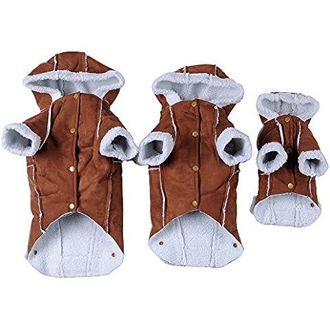 Capa del animal doméstico ropa para perros de perrito del gato sudadera con capucha de algodón lindo Cuatro Pierna capucha sudaderas con capucha de la chaqueta del