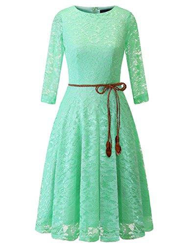Kleid spitze mint