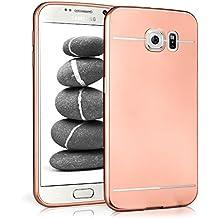 Caso suave para Samsung Galaxy S6 | Funda de silicona con efecto metálico mate | Protección de celda fina bolsa de OneFlow | Backcover en Rose-Gold